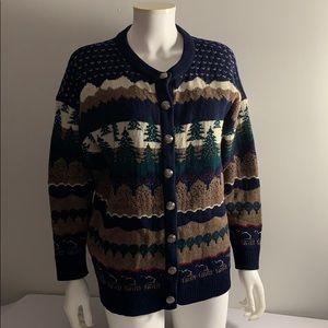 Vintage Northern Reflections Wool Sweater Medium